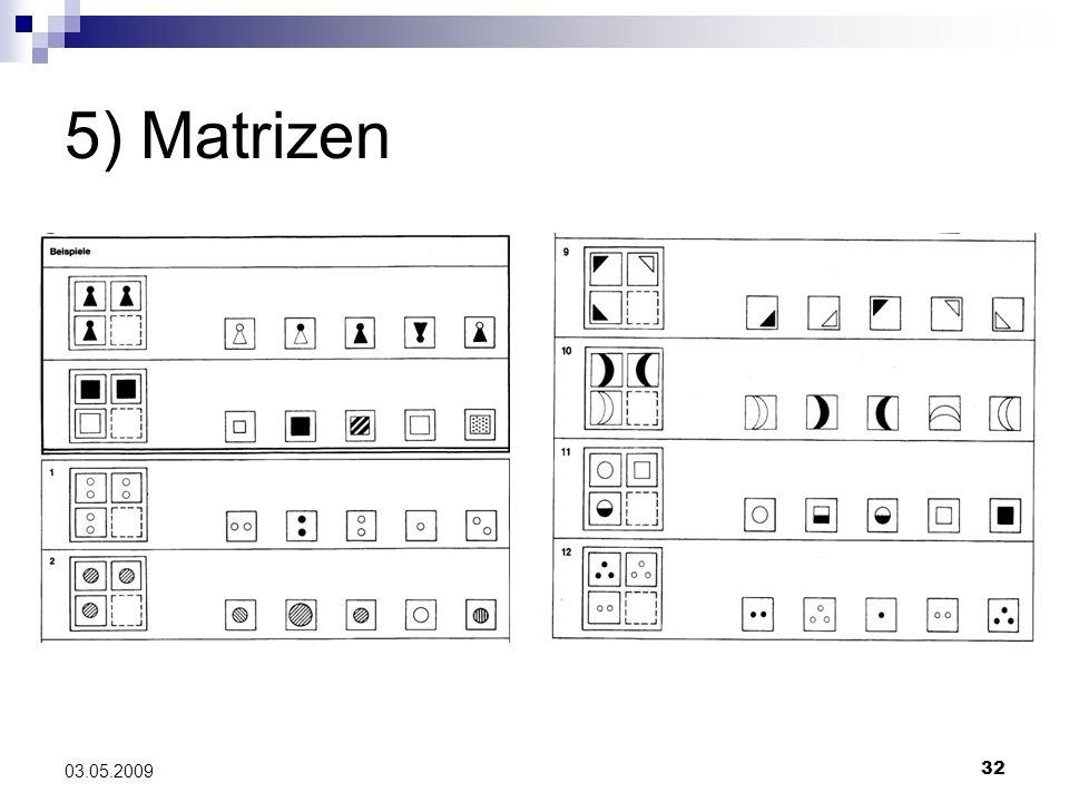 5) Matrizen