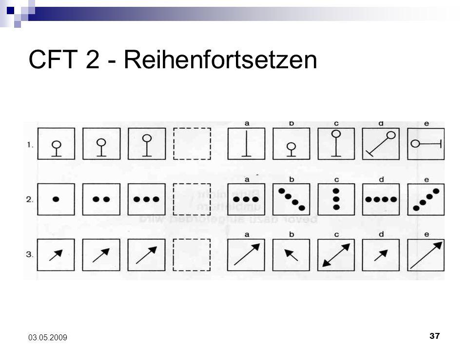 CFT 2 - Reihenfortsetzen