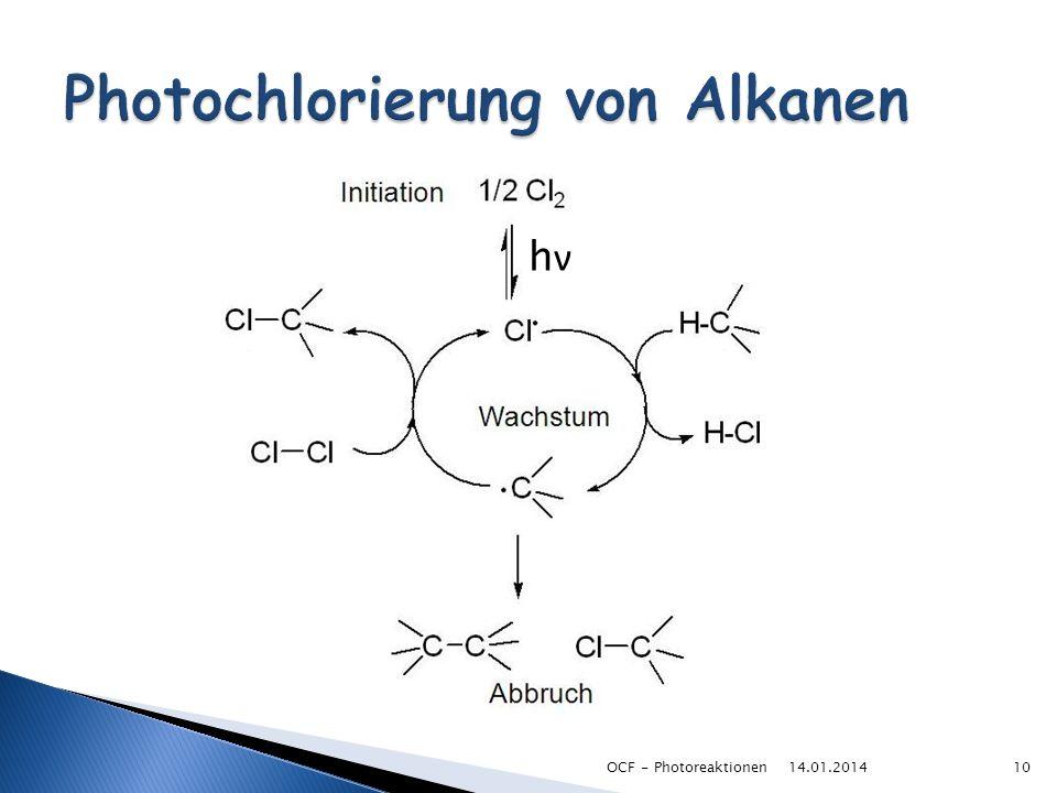 Photochlorierung von Alkanen