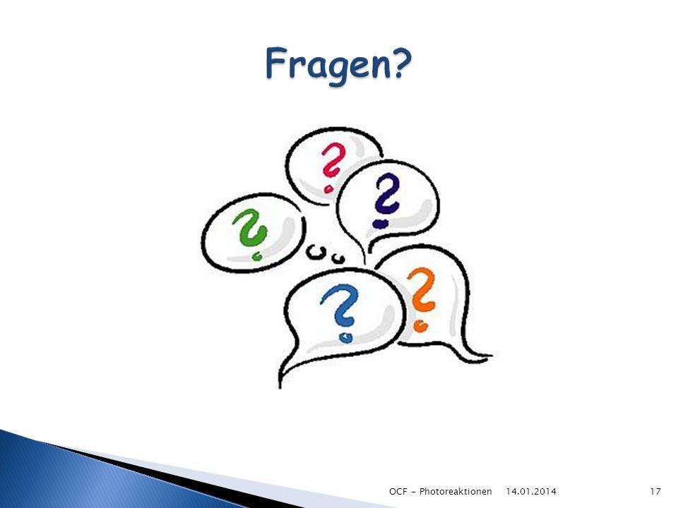 Fragen OCF - Photoreaktionen 27.03.2017