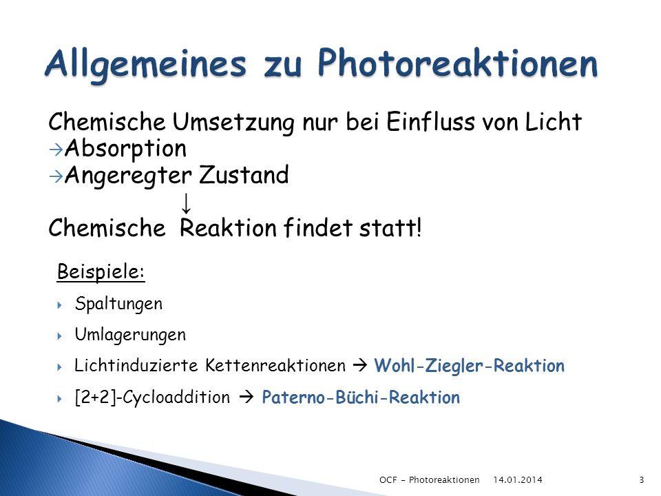 Allgemeines zu Photoreaktionen
