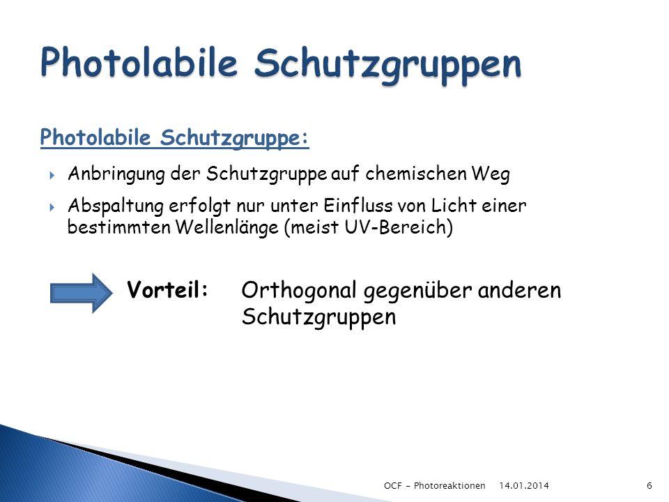Photolabile Schutzgruppen