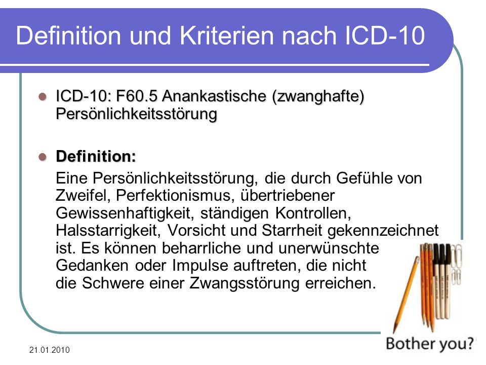 Definition und Kriterien nach ICD-10