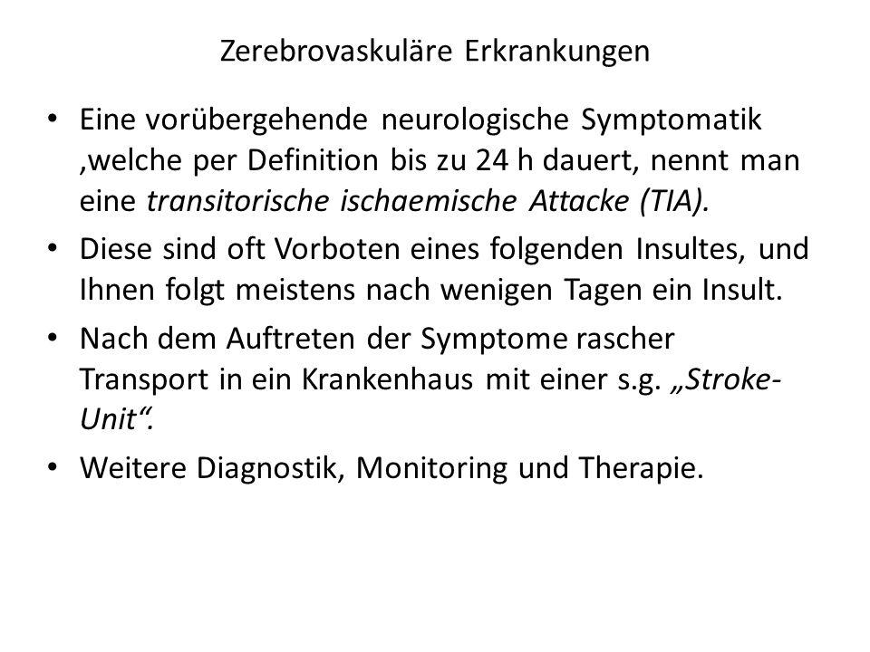 Zerebrovaskuläre Erkrankungen