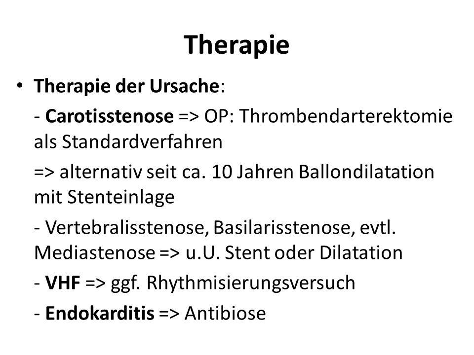 Therapie Therapie der Ursache: