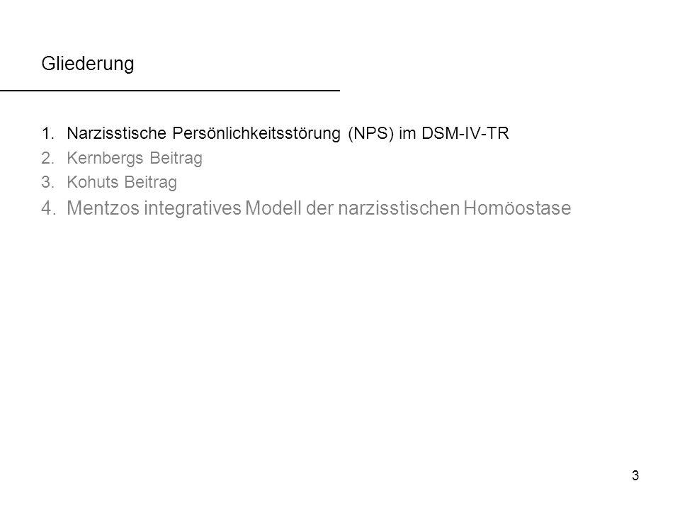 Mentzos integratives Modell der narzisstischen Homöostase