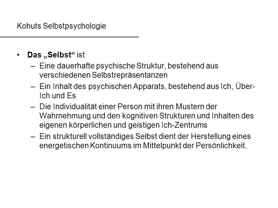 Kohuts Selbstpsychologie
