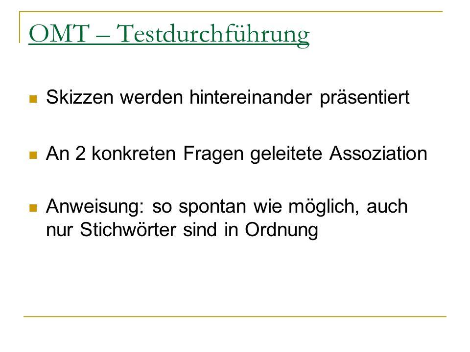 OMT – Testdurchführung