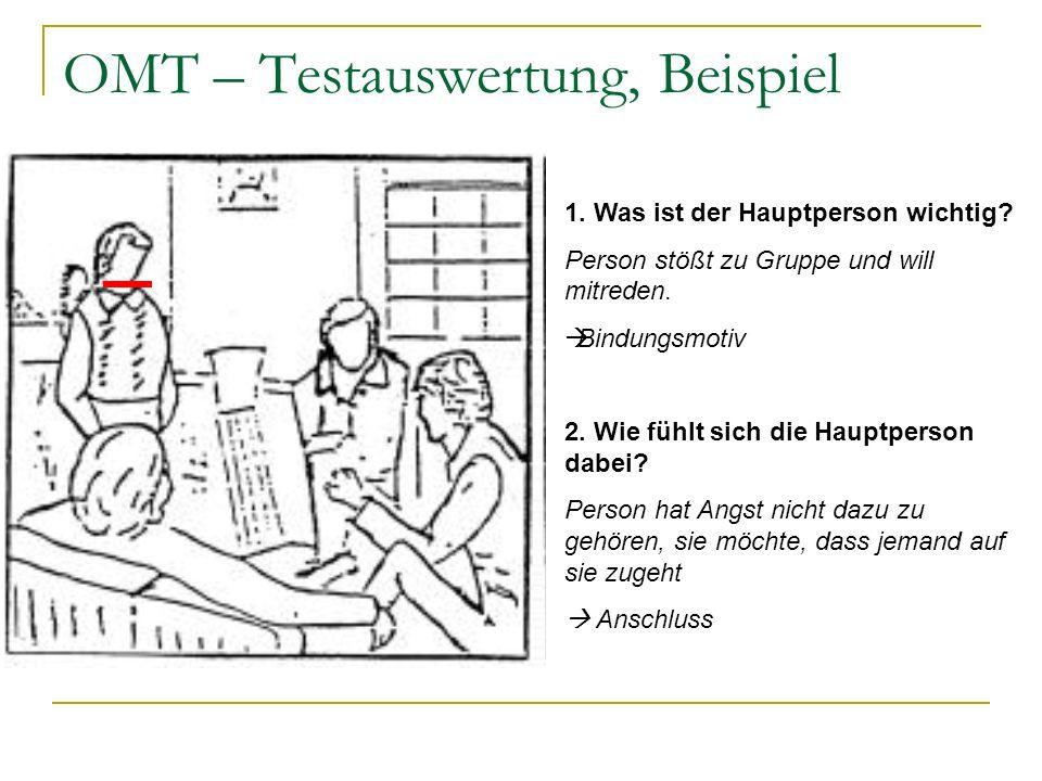 OMT – Testauswertung, Beispiel