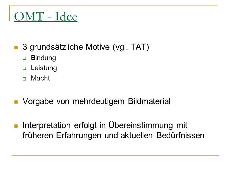 OMT - Idee 3 grundsätzliche Motive (vgl. TAT)