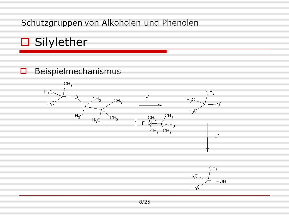Schutzgruppen von Alkoholen und Phenolen