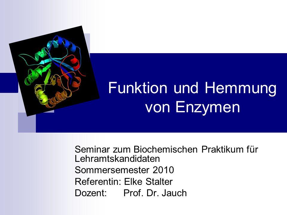Funktion und Hemmung von Enzymen