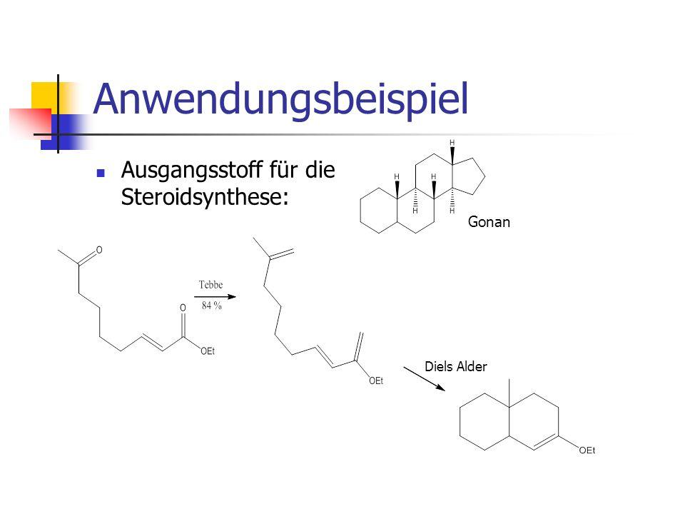 Anwendungsbeispiel Ausgangsstoff für die Steroidsynthese: Gonan