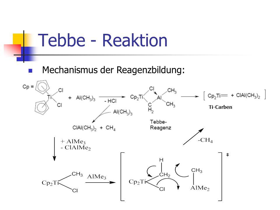 Tebbe - Reaktion Mechanismus der Reagenzbildung: Ti-Carben