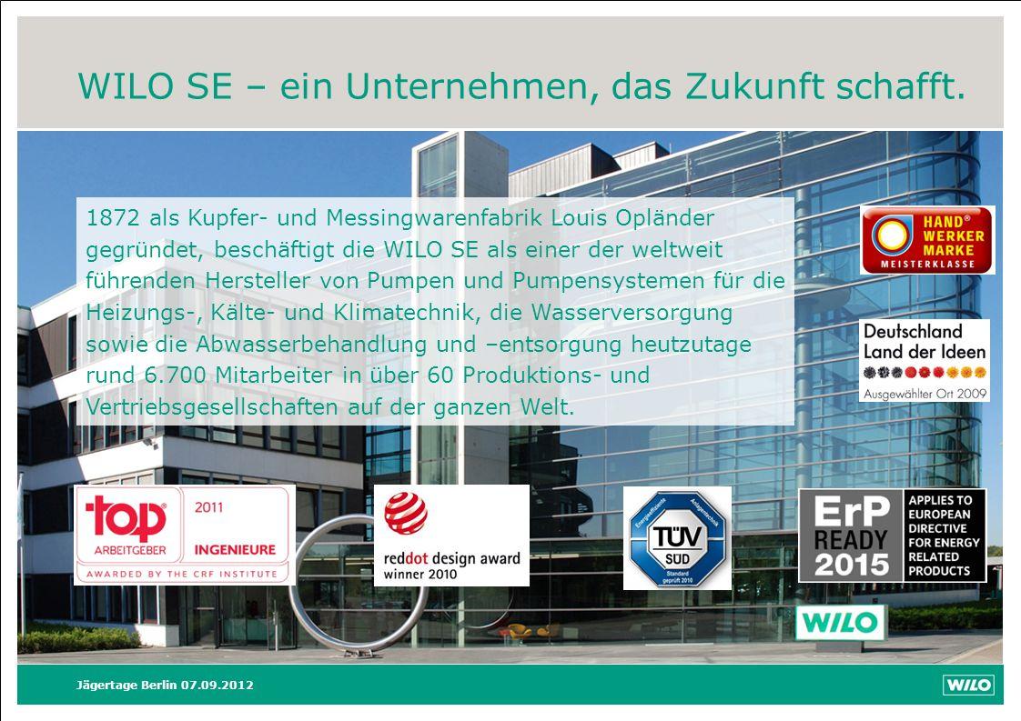 WILO SE – ein Unternehmen, das Zukunft schafft.
