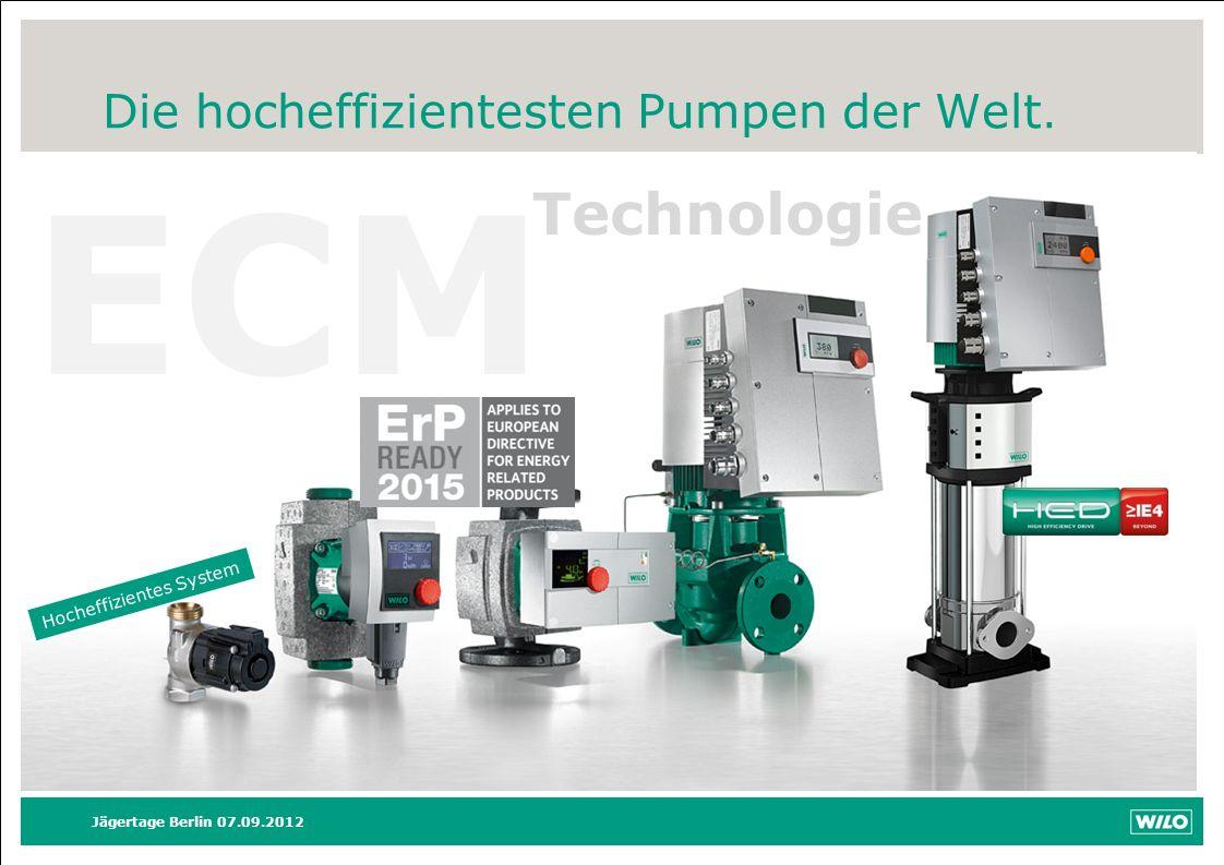 ECM Technologie Die hocheffizientesten Pumpen der Welt. Moderation: