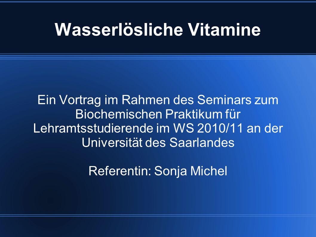 Wasserlösliche Vitamine