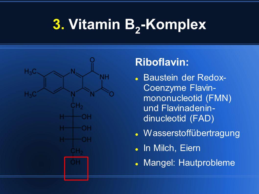 3. Vitamin B2-Komplex Riboflavin: