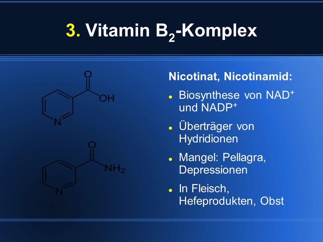 3. Vitamin B2-Komplex Nicotinat, Nicotinamid: