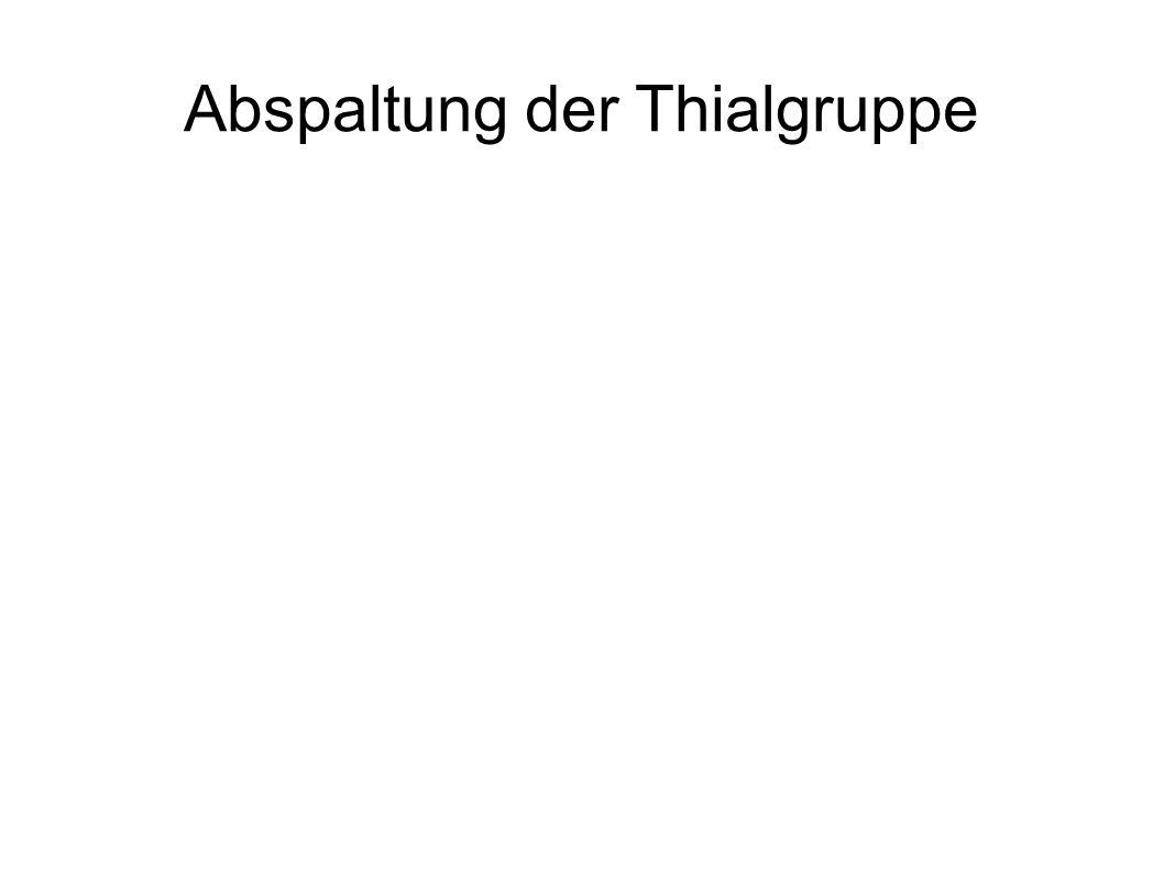 Abspaltung der Thialgruppe