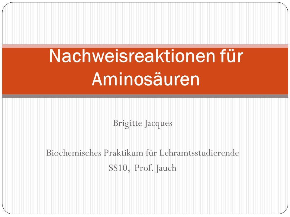 Nachweisreaktionen für Aminosäuren