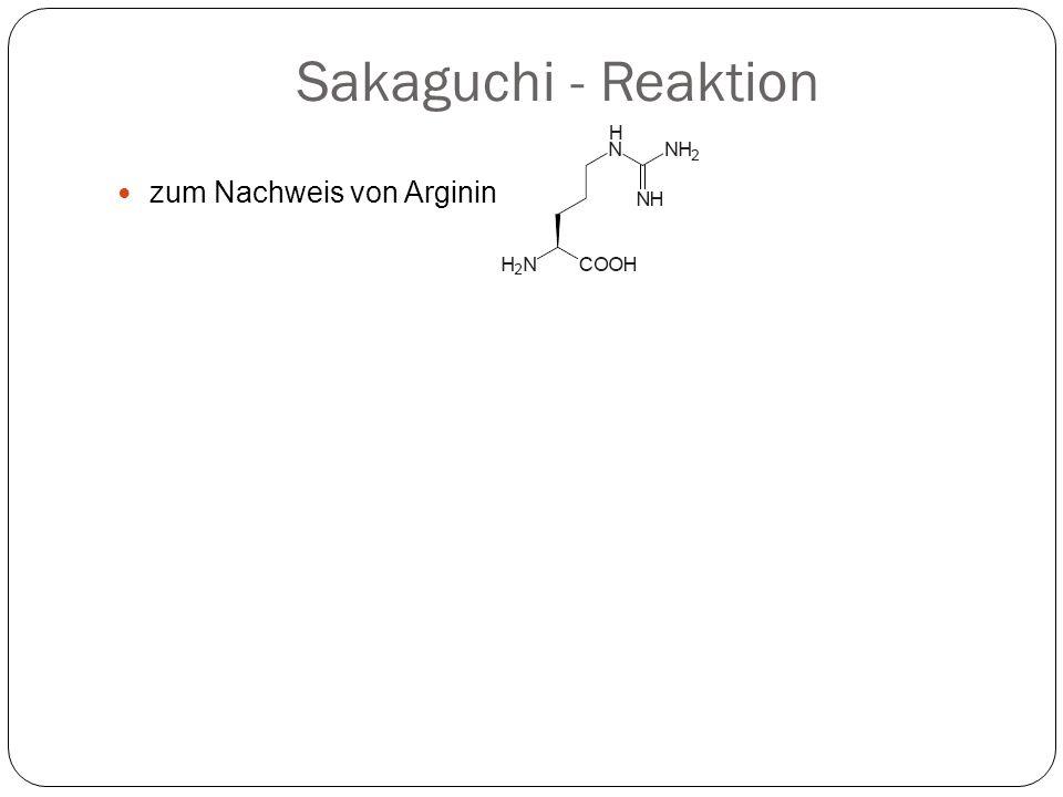 Sakaguchi - Reaktion zum Nachweis von Arginin