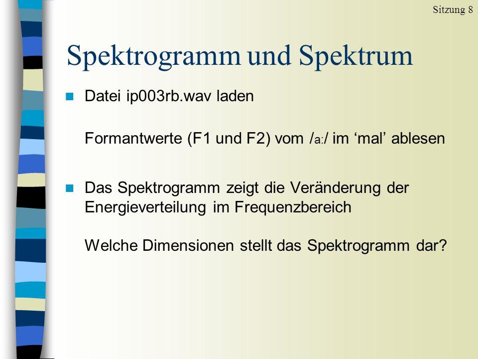 Spektrogramm und Spektrum