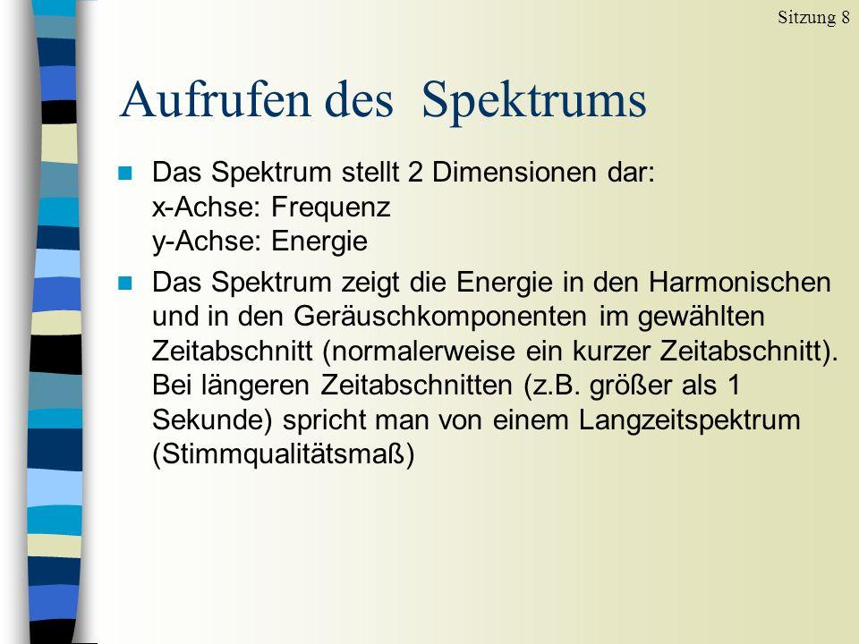 Aufrufen des Spektrums