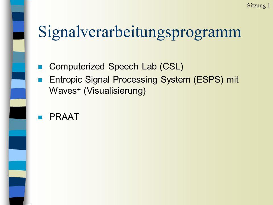 Signalverarbeitungsprogramm