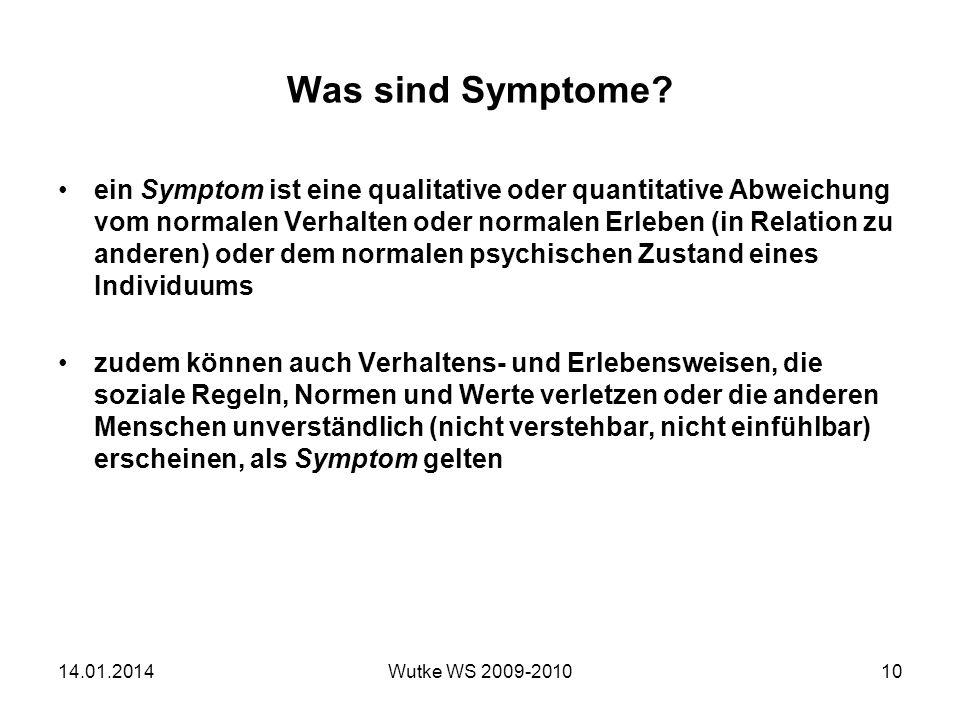 Was sind Symptome
