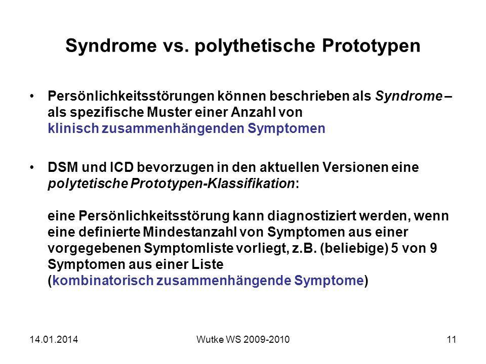 Syndrome vs. polythetische Prototypen