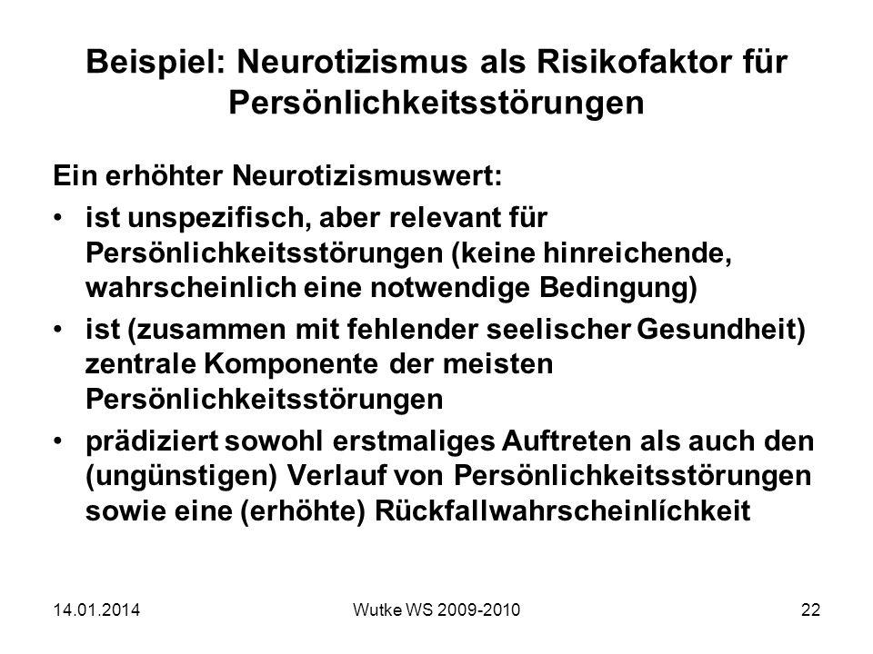 Beispiel: Neurotizismus als Risikofaktor für Persönlichkeitsstörungen