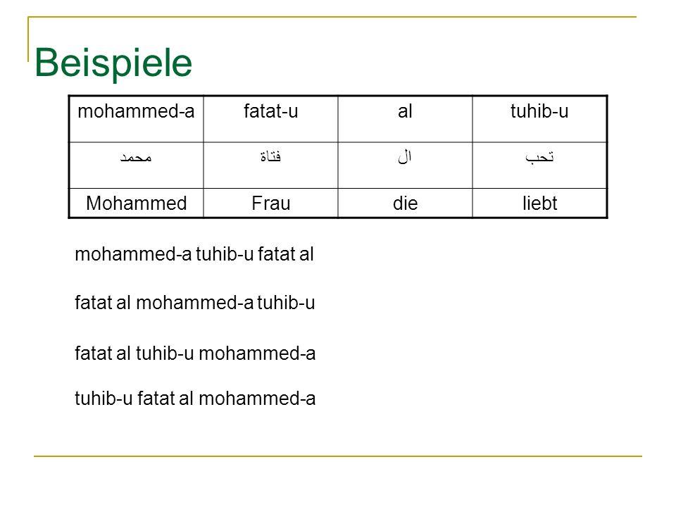 Beispiele mohammed-a fatat-u al tuhib-u محمد فتاة ال تحب Mohammed Frau