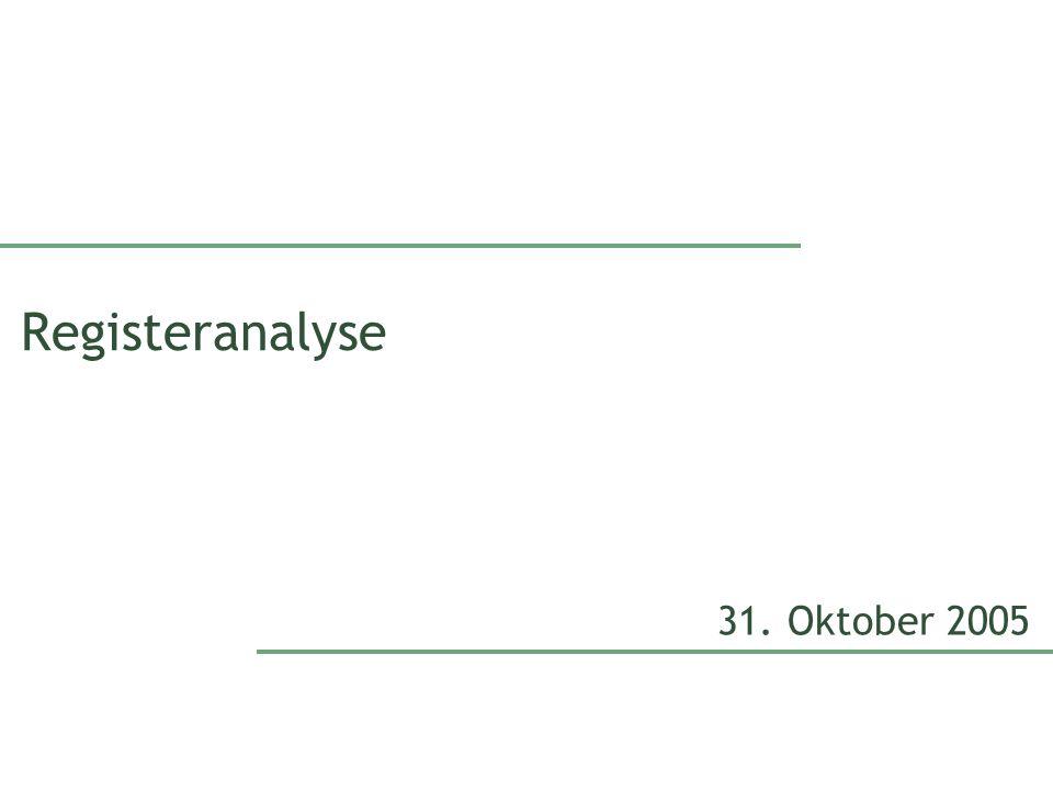Registeranalyse 31. Oktober 2005