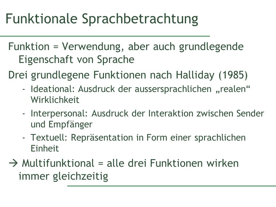 Funktionale Sprachbetrachtung