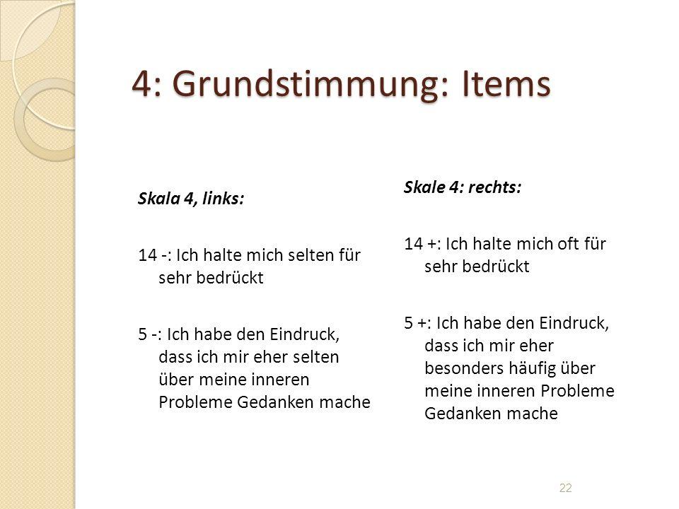 4: Grundstimmung: Items