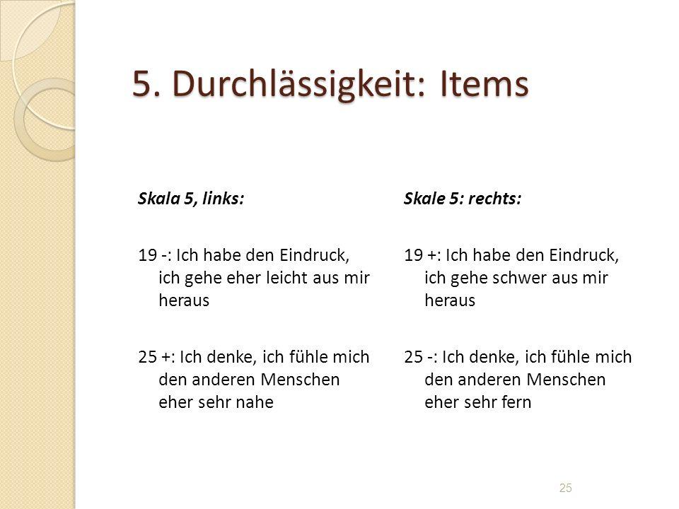 5. Durchlässigkeit: Items