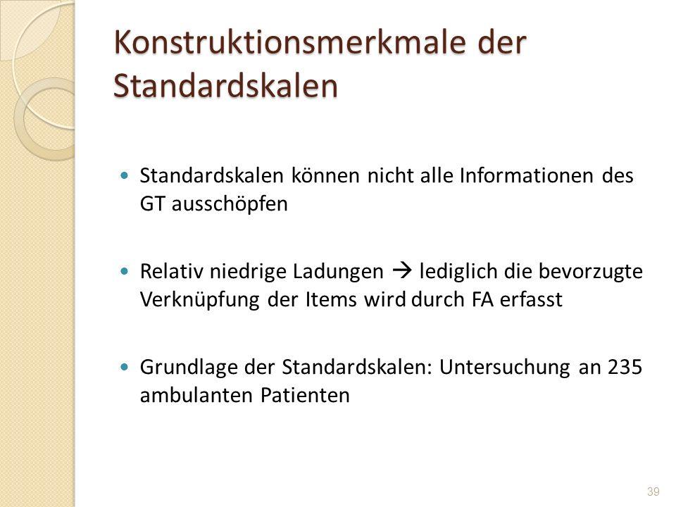 Konstruktionsmerkmale der Standardskalen