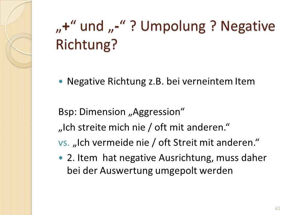 """""""+ und """"- Umpolung Negative Richtung"""