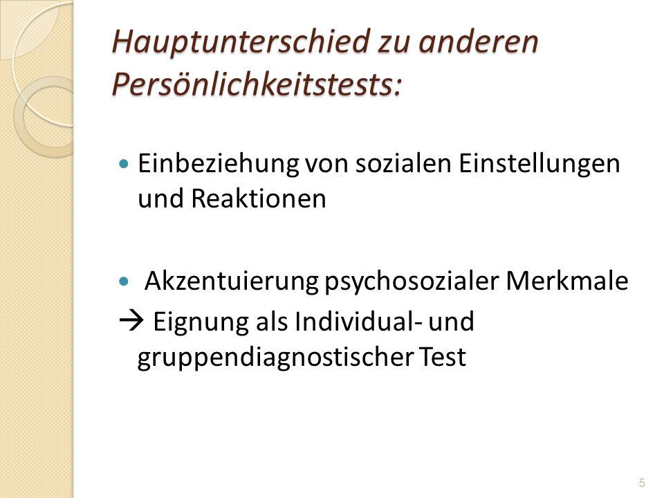 Hauptunterschied zu anderen Persönlichkeitstests: