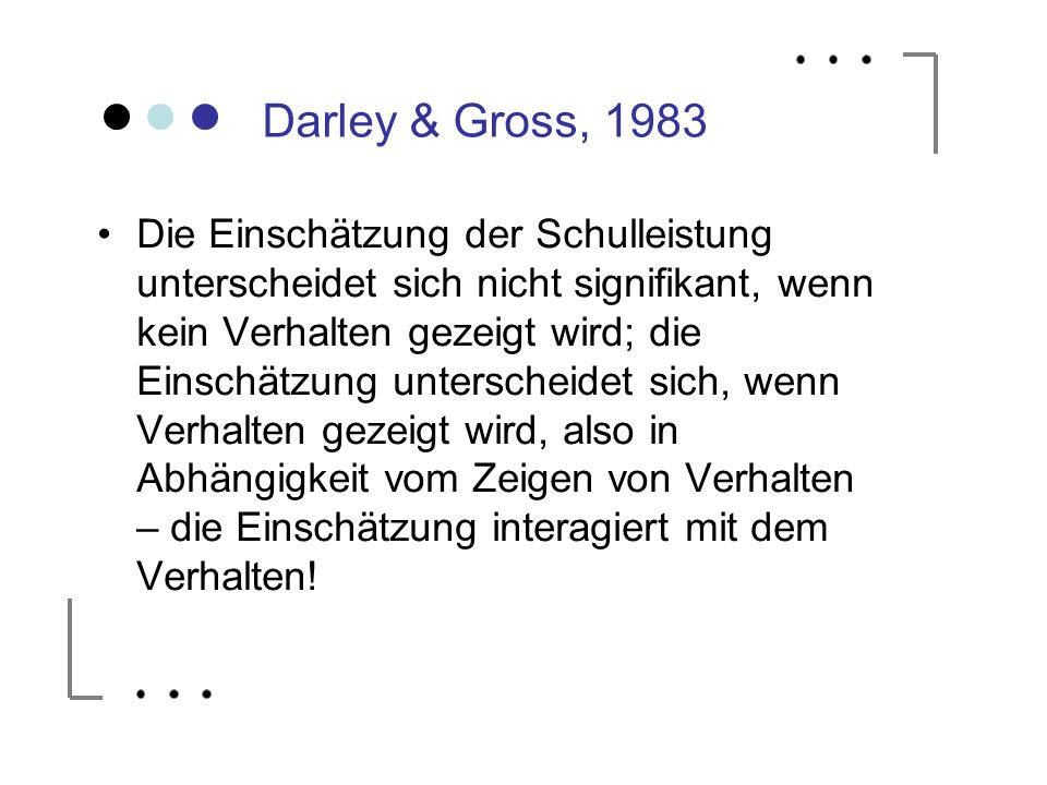 Darley & Gross, 1983