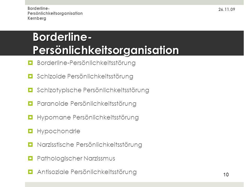 Borderline-Persönlichkeitsorganisation