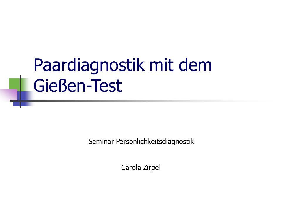 Seminar Persönlichkeitsdiagnostik