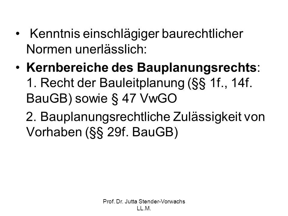 Prof. Dr. Jutta Stender-Vorwachs LL.M.