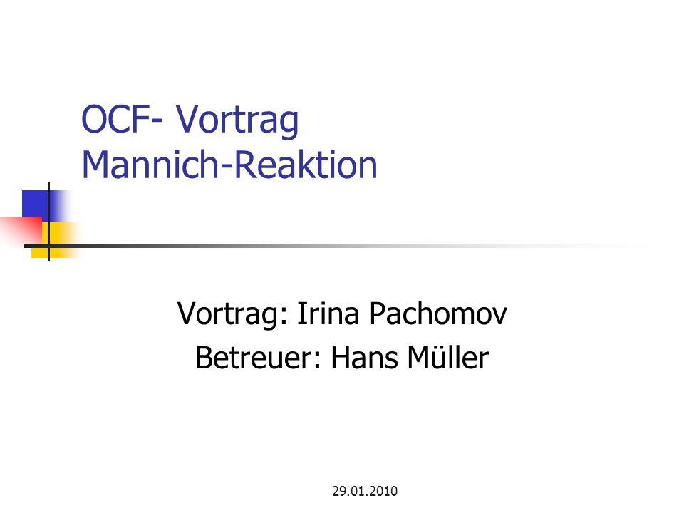 OCF- Vortrag Mannich-Reaktion