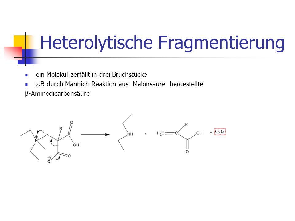 Heterolytische Fragmentierung