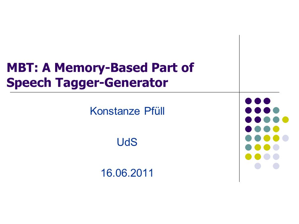 MBT: A Memory-Based Part of Speech Tagger-Generator