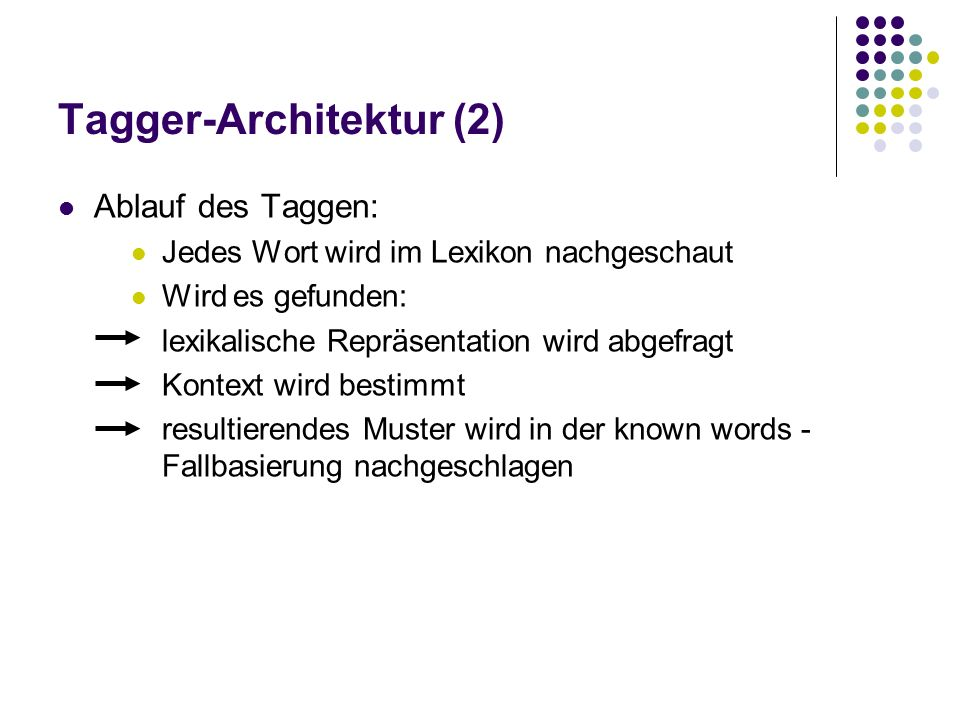 Tagger-Architektur (2)