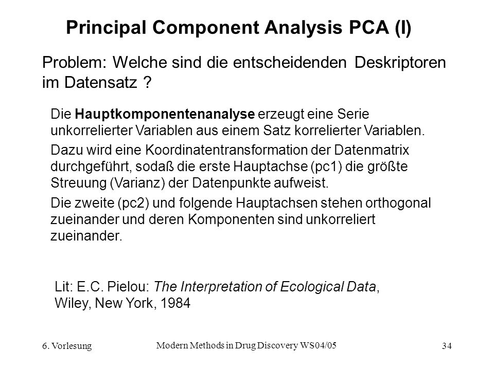 Principal Component Analysis PCA (I)