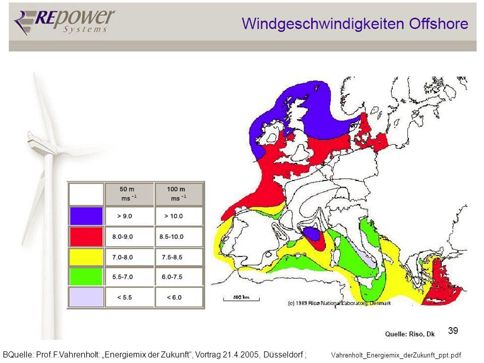 """BQuelle: Prof. F. Vahrenholt: """"Energiemix der Zukunft , Vortrag 21. 4"""